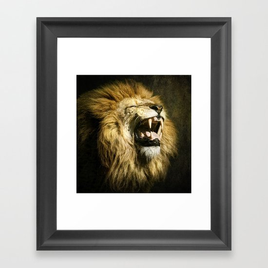 The Lion's Roar Framed Art Print