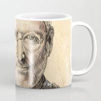 steve mcqueen Mugs featuring STEVE by Stan Kwong