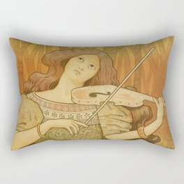 Violin lessons vintage French advertising Rectangular Pillow