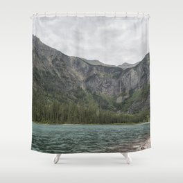 Avalanche Lake No. 3 - Glacier NP Shower Curtain