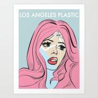 Los Angeles Plastic Art Print