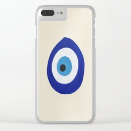 Blue Evil Eye Clear iPhone Case