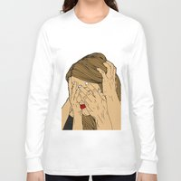 introvert Long Sleeve T-shirts featuring Introvert 6 by Heidi Banford