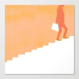 Climbing Ladders Canvas Print