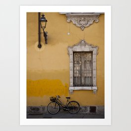 On the Street in Parma Art Print