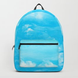 Aerial Turquoise Clouds Backpack