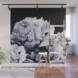 Peony Flower Bouquet Black and White #decor #society6 #buyart Wall Mural