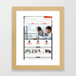 75+ Best Responsive WordPress Lawyer Themes Framed Art Print