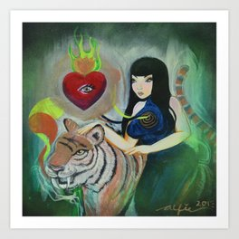 """5: Kiss Like Painted Tigers but We Bleed Like No One Does"" Art Print"