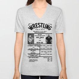 #5 Memphis Wrestling Window Card Unisex V-Neck