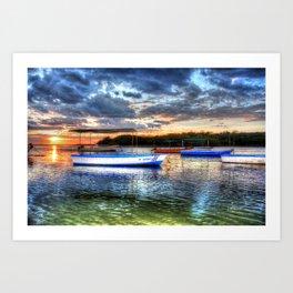 Estuary Sunset Costa Rica Art Print