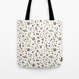 Trendy and Cute Gardening Flowers Bird Yard Tote Bag