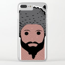 afro thumbprint Clear iPhone Case