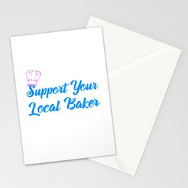 Support Your Local Baker Colorful Stationery Cards