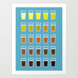 The Colors of Beer Art Print