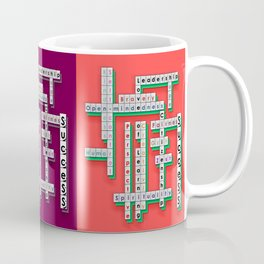 Cross Word Puzzle of Success Coffee Mug