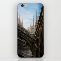 spires iPhone & iPod Skins featuring Duomo di Milano spires by Marc Daly