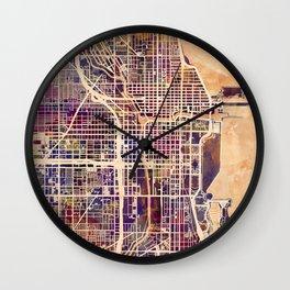 Chicago City Street Map Wall Clock