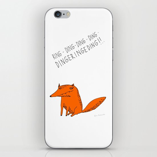 What does the fox say??? iPhone & iPod Skin
