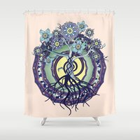 buddhism Shower Curtains featuring Tree of Knowledge by DebS Digs Photo Art