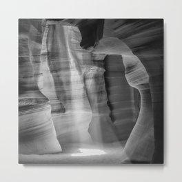 ANTELOPE CANYON Lightbeam | monochrome Metal Print