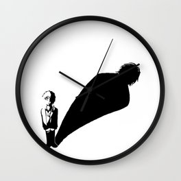 Two sides of Eren Jaeger Wall Clock