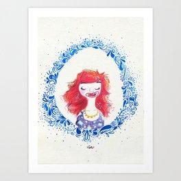 muchacha pelirroja Art Print