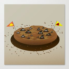 Chocolate Chips War Zone Canvas Print