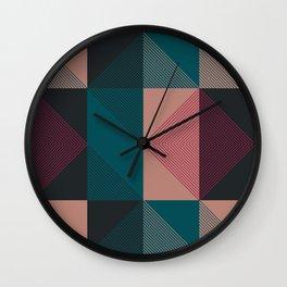 Grayskull Plaid Wall Clock