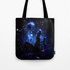gaLAXY Blue Pillars of Creation Tote Bag