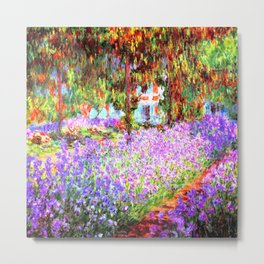 Monets Garden in Giverny Metal Print