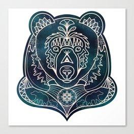 Mandala Bear Canvas Print