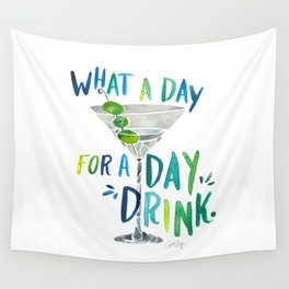 What a Day for a Day Drink – Blue & Green Palette Wall Tapestry
