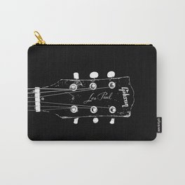 Old Gibson Les Paul Guitar Head - Rock Music - Pop Culture Carry-All Pouch