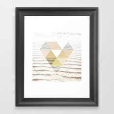 Beach Diamond Framed Art Print