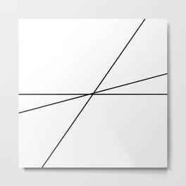 Abstract Black Lines Metal Print