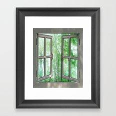 WINDOW TO NATURE Framed Art Print