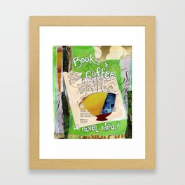 Books and Coffee Framed Art Print
