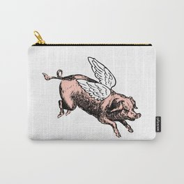 Pig with Wings   Flying Pig   When Pigs Fly   Pigs with Wings   Vintage Pig    Carry-All Pouch