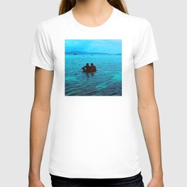 Relaxing in Tropical Paradise at End of Day T-shirt