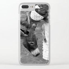Donkey Whisperer Clear iPhone Case