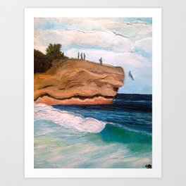 Shipwreck Rock, Kauai Art Print