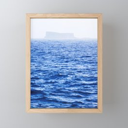 Isolated Island - Filfla Malta   Shades of Blue Framed Mini Art Print