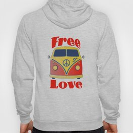 Free Love , festival fantasy with Woodstock in mind Hoody