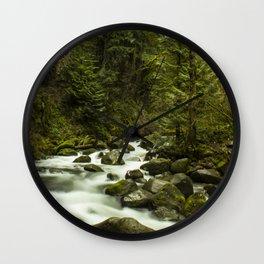 Rios de Oregon 1 Wall Clock