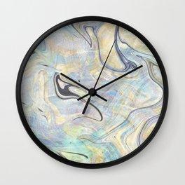 Pastel Gold Mermaid Marble Wall Clock