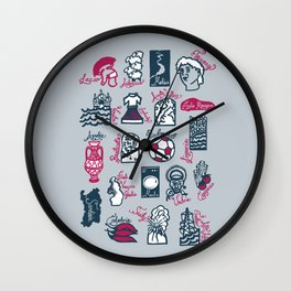 Italy in 20 regions Wall Clock
