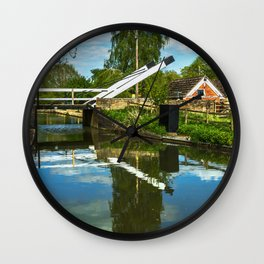 Aubreys Lift Bridge  At Thrupp Wall Clock