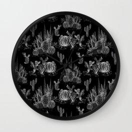 Watercolor cactuses print Wall Clock