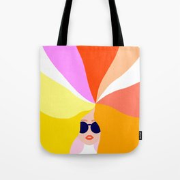 Girl Power - Rainbow Hair #girlpower Tote Bag